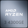 AMD Ryzen 3 4300GE 3.8GHz 4C/8T 35W AM4 APU with Radeon Graphics 6