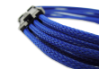 Blue Braided 6+2-pin PCIe Extension Cable