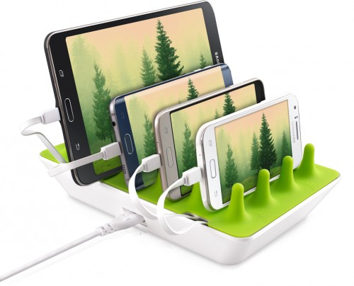 The Zentree can charge up to four device simultaneously