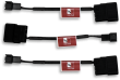 Noctua NA-SAC1 4-Pin Molex to 3-pin Fan Adaptor Cables, 3 pack