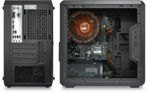 Rear and side views, previous gen motherboard