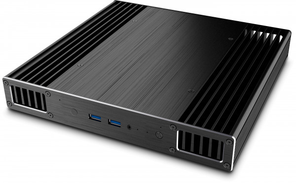 The UltraNUC Pro 8 Fanless, Turing left, Plato right